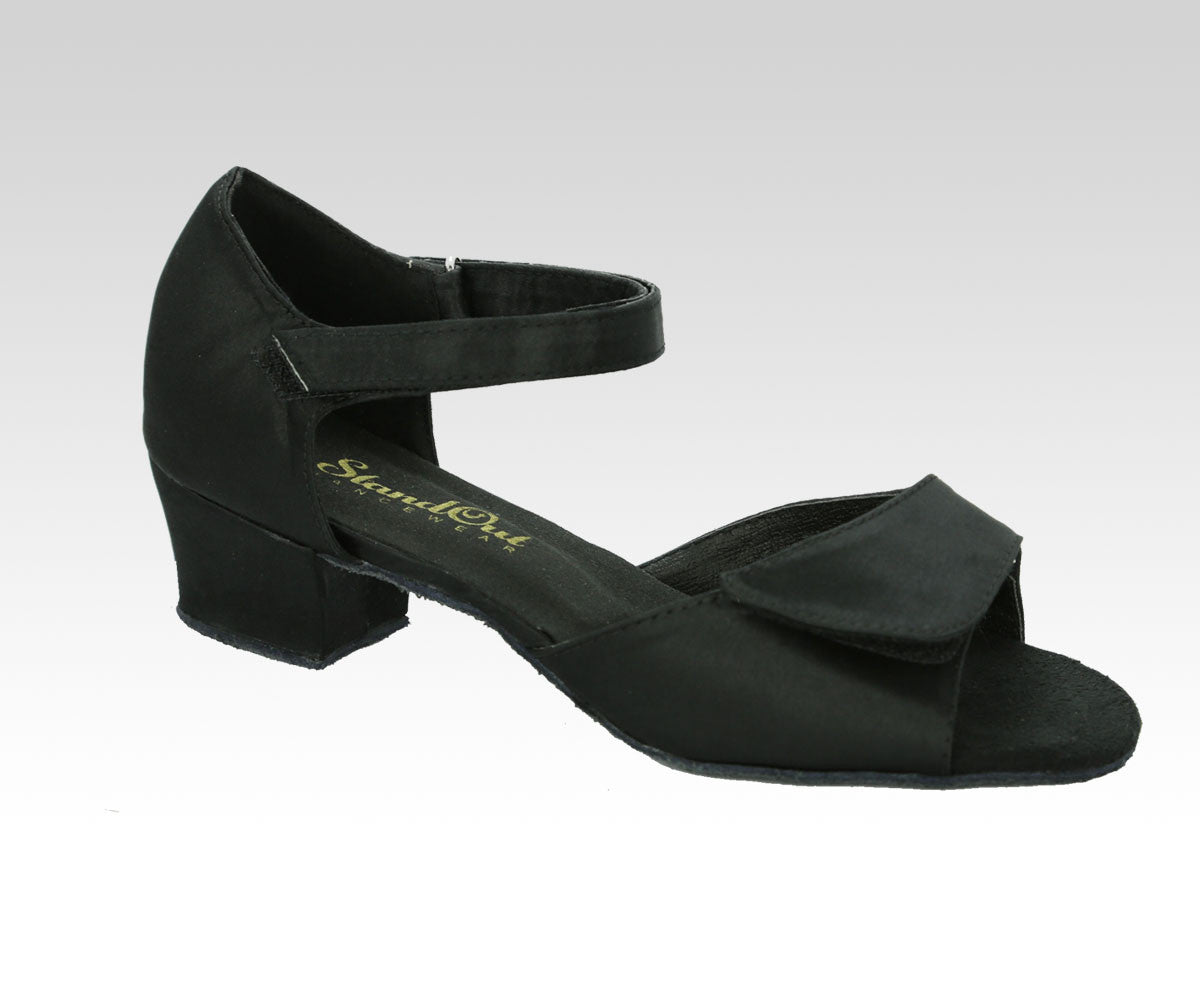 cuban heeled black dance shoes