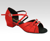 slim fit and wide fit red dance shoes uk