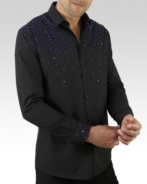 Quick Dry Dance Shirt Blue