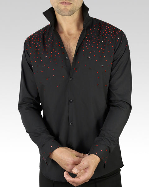 red ballroom and latin shirt