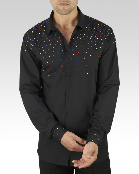 colourful ballroom and latin dance shirt