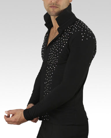 mens latin dance shirt