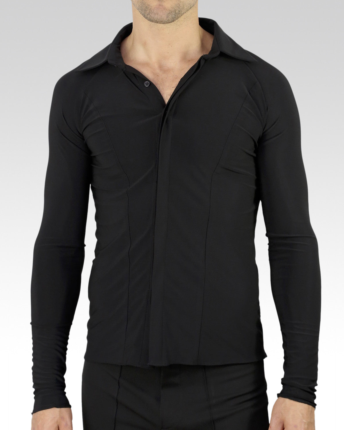 muscle fit mens latin and ballroom dance shirt