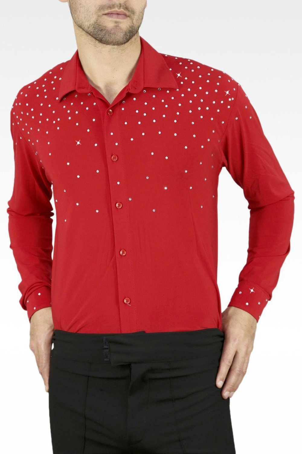 mens latin and ballroom dance shirt uk