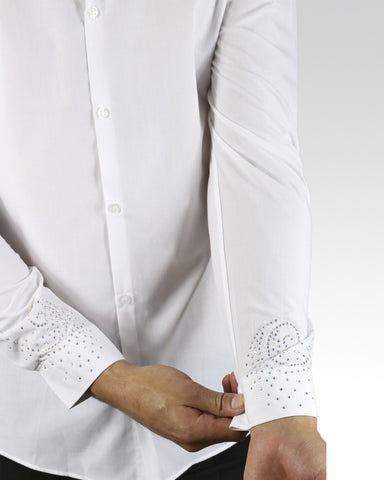 Quick Dry Dance Shirt Sprial - White - StandOut Dancewear