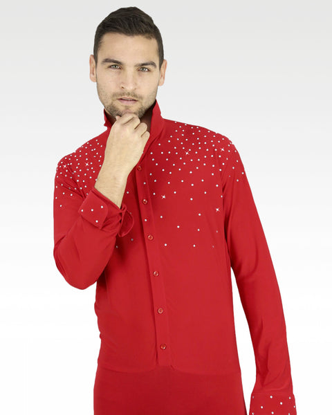 competition latin dance shirt with shorts