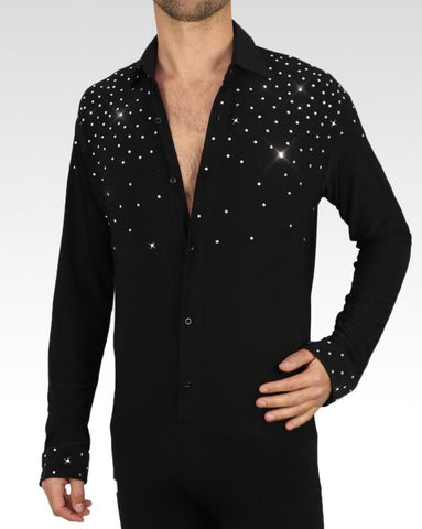mens latin and ballroom dance shirt