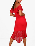 Ellina Dance Dress-Red