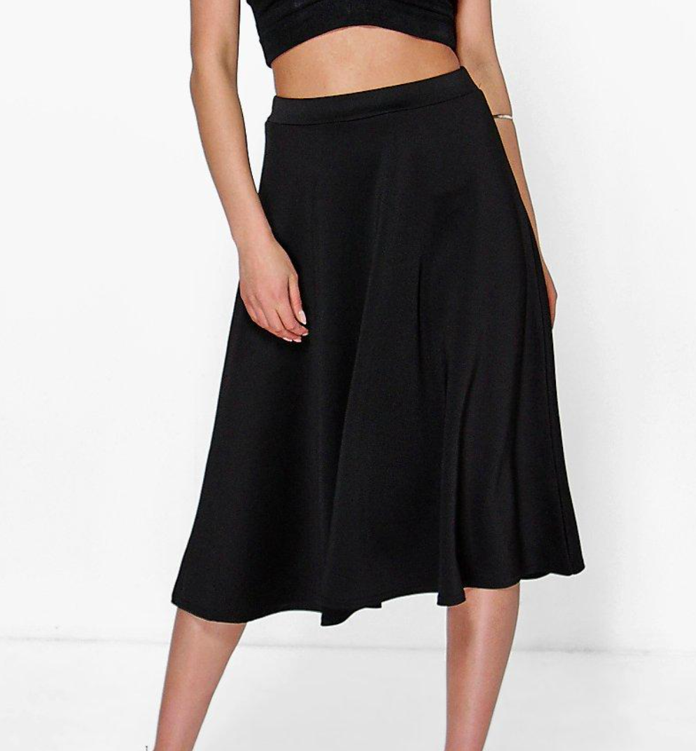 Araiya Midi Dance Skirt- Black