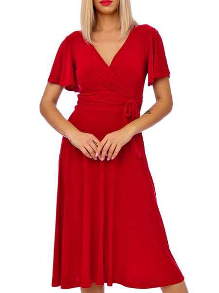 Ciara Dress- Red