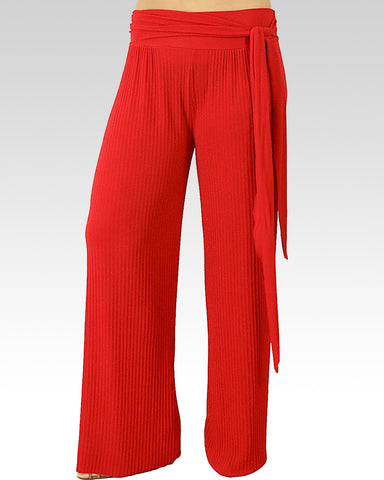 red dance trousers