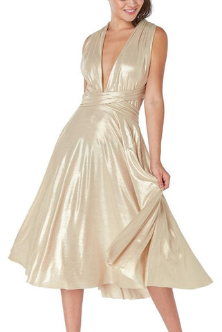 Royal Dance Dress-Gold