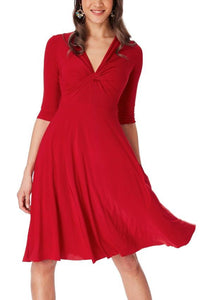 Cara Dress- Red