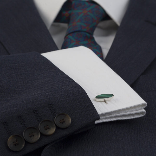 Bourn Cufflink Malachite