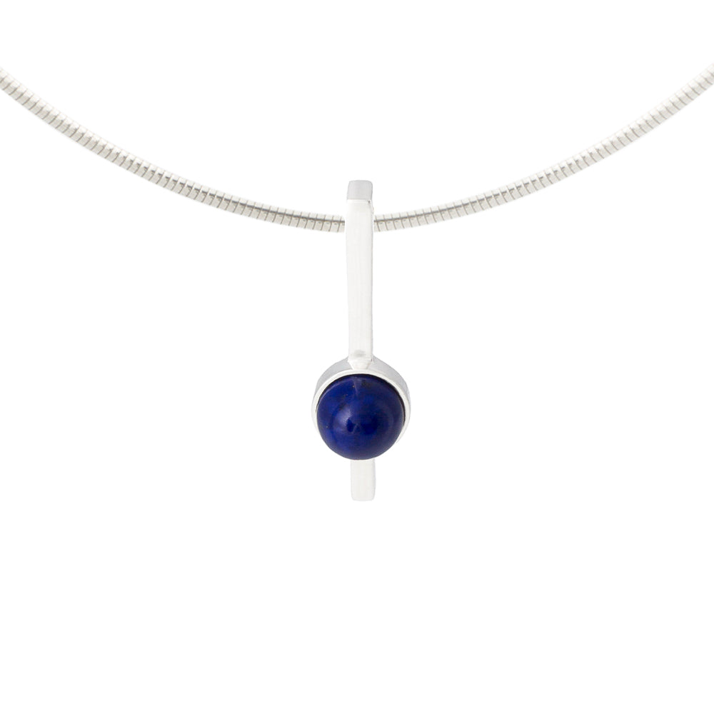 Lapis Necklace set in sterling silver