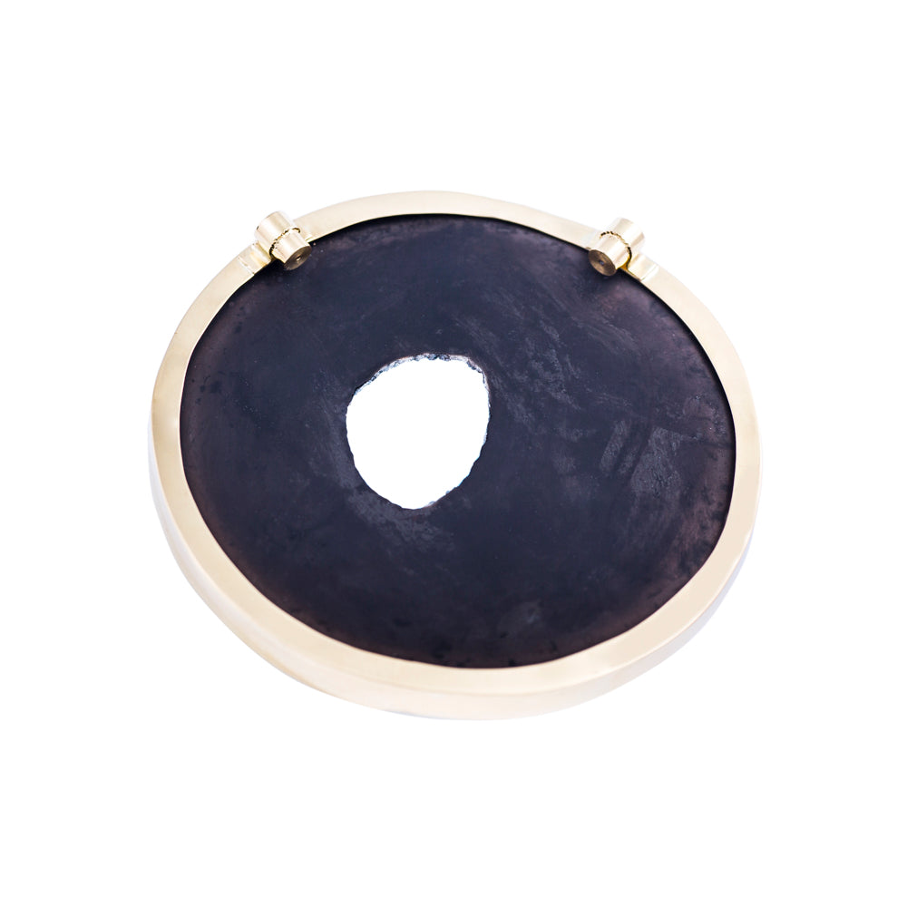 Black Onyx Druzy and Diamond Necklace