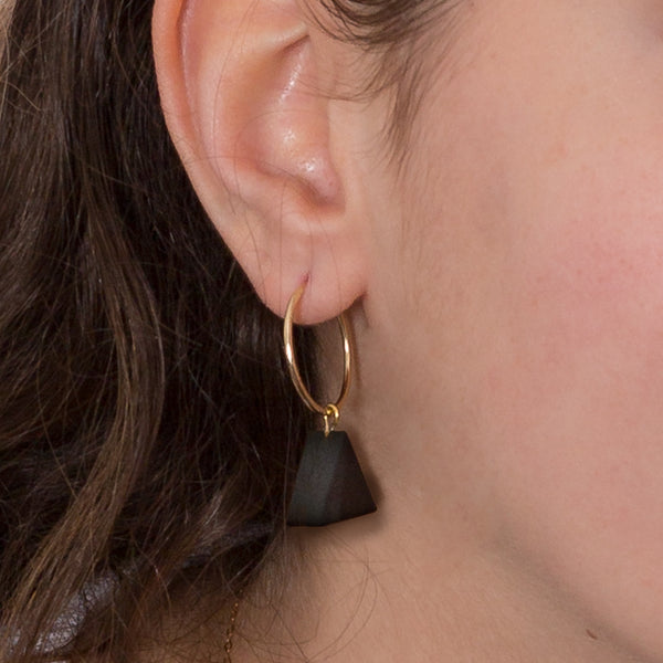 Hoop Earrings - Black Onyx