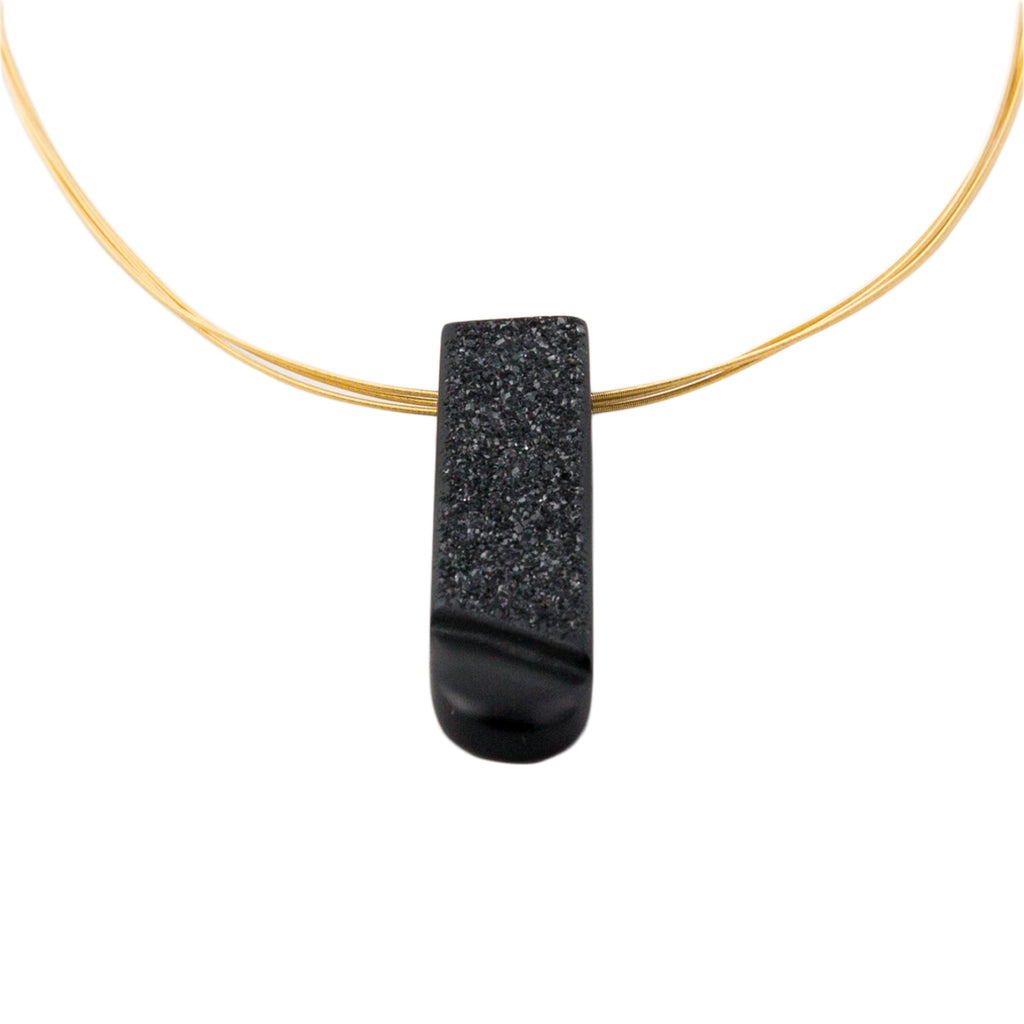 Black Onyx and 18 Carat Gold Necklace