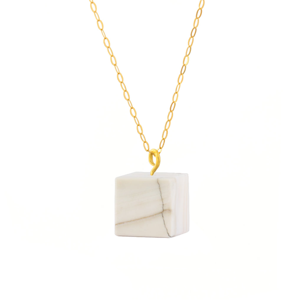 Cube Necklace - Mother of Pearl