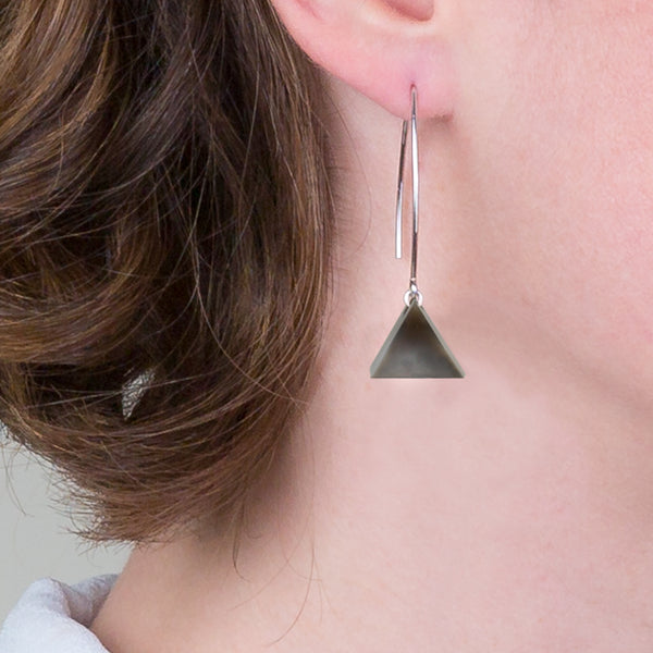 Drop Earrings - Flint Triangle