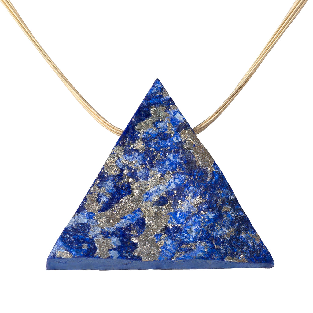 18 Carat Gold and Lapis Lazuli Necklace