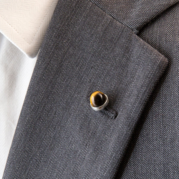 Cairn Lapel Pin Tigers Eye