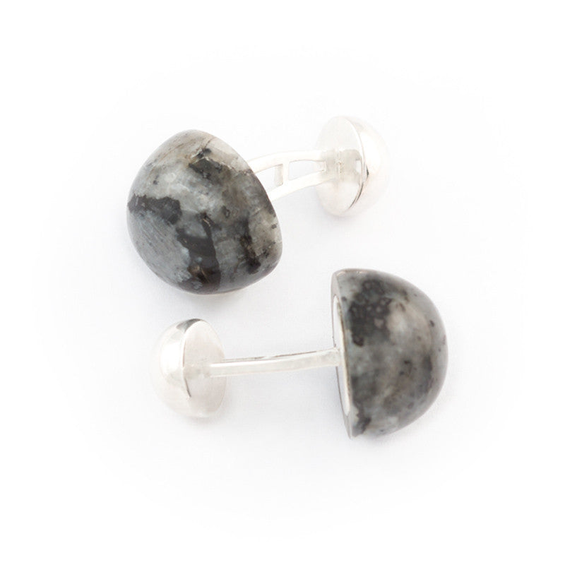 large domed labradorite cufflink by Alistair R