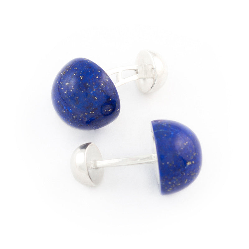 lapis lazuli statement cufflinks, large dome shape Alistair R