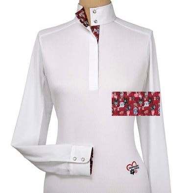 Essex Classics Danny & Ron's Rescue Ladies Talent Yarn Straight Collar Show Shirt - Equestrian Chic Boutique