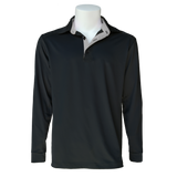 Equi In Style MEN'S Long Sleeve Cold Weather Shirt - Black with Silver - Equestrian Chic Boutique