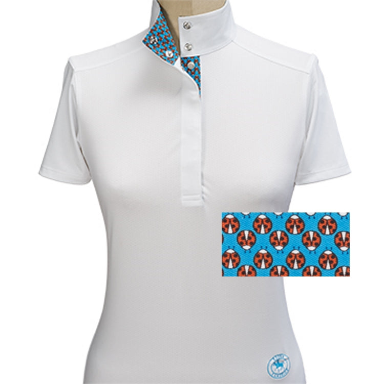 Essex Classics Lady Bug Straight Collar Short Sleeve Show Shirt - Equestrian Chic Boutique