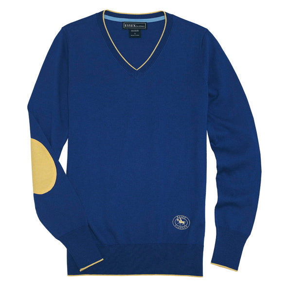 Essex Classics Trey V-Neck Sweater - Royal Blue - Equestrian Chic Boutique