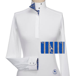Essex Classics Capezza Ladies Talent Yarn Straight Collar Show Shirt - Equestrian Chic Boutique