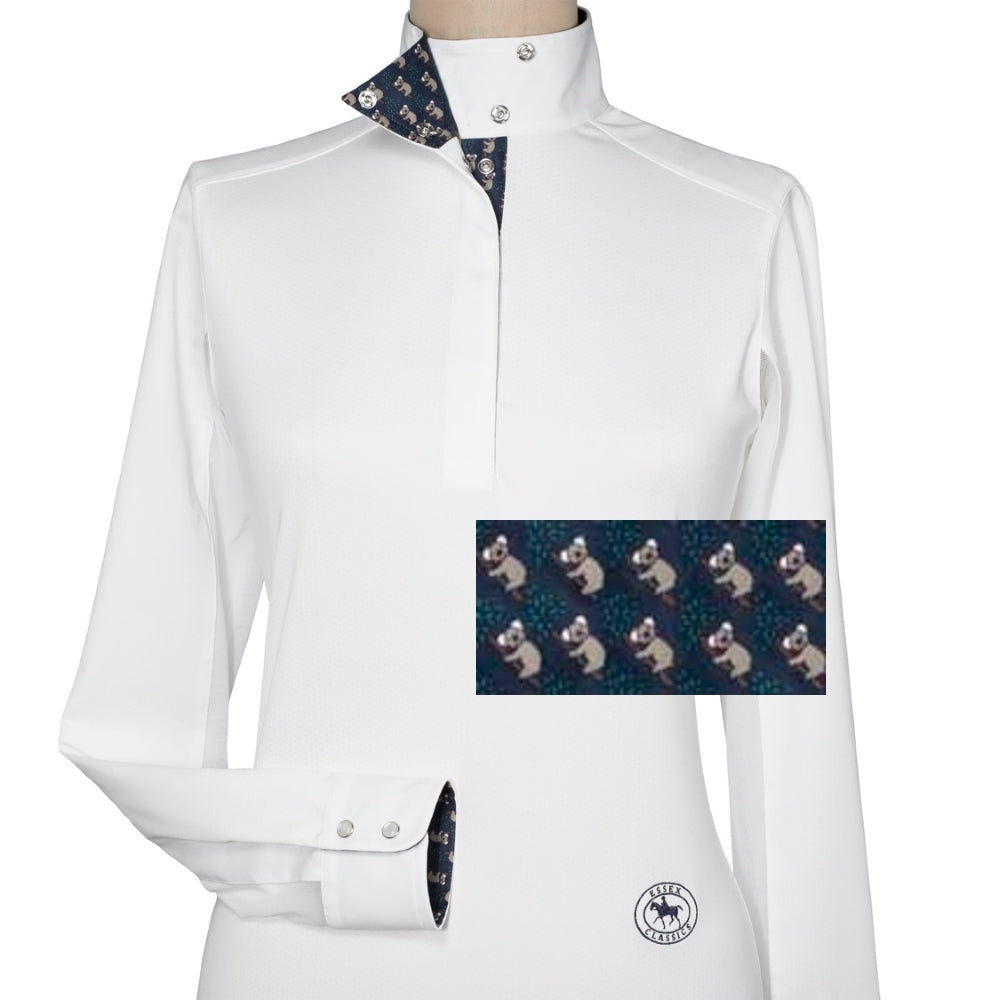 Essex Classics Kaola Bear Ladies Talent Yarn Wrap Collar Show Shirt
