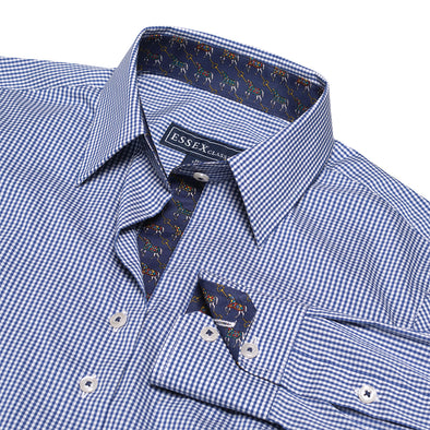 Essex Classics Dora Cheval Gingham Check Tailored Shirt