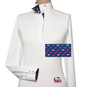 Essex Classics Peeps Ladies Talent Yarn Wrap Collar Show Shirt - Equestrian Chic Boutique