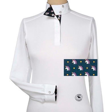 Essex Classics Unicorn Ladies Talent Yarn Straight Collar Show Shirt - Equestrian Chic Boutique