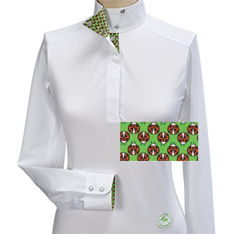 Essex Classics Ladybug Ladies Talent Yarn Wrap Collar Show Shirt