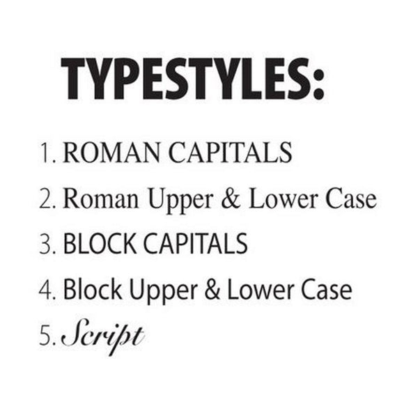 Choose a Typeset