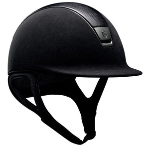 Samshield PREMIUM Helmet LEATHER TOP - Black Top Leather Chrome Black - Equestrian Chic Boutique