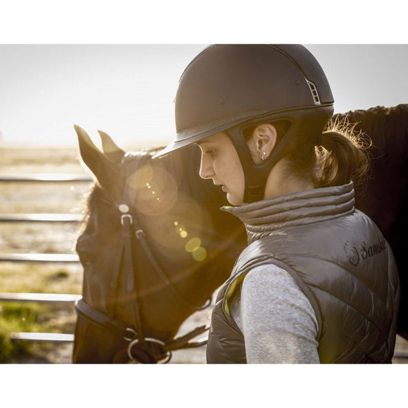 Samshield Miss Shield Shadow Matt Helmet - Black - Equestrian Chic Boutique