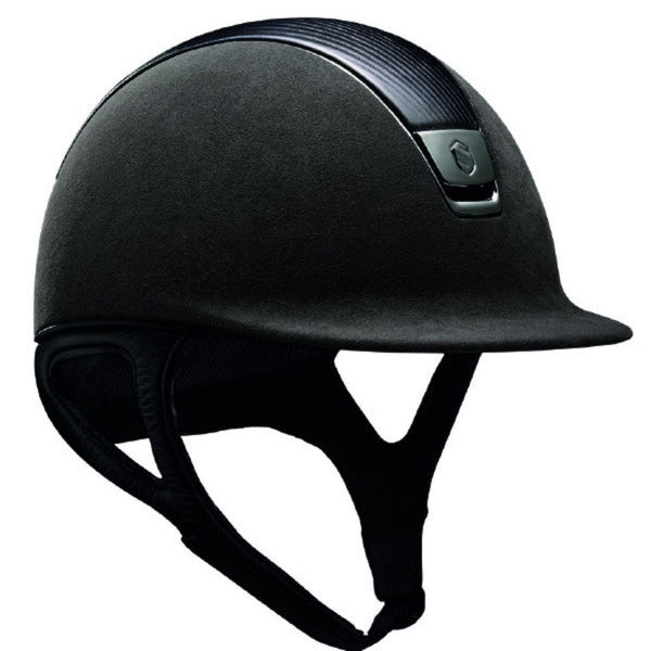 Samshield PREMIUM Helmet LEATHER TOP - Grey Top Leather Chrome Black - Equestrian Chic Boutique