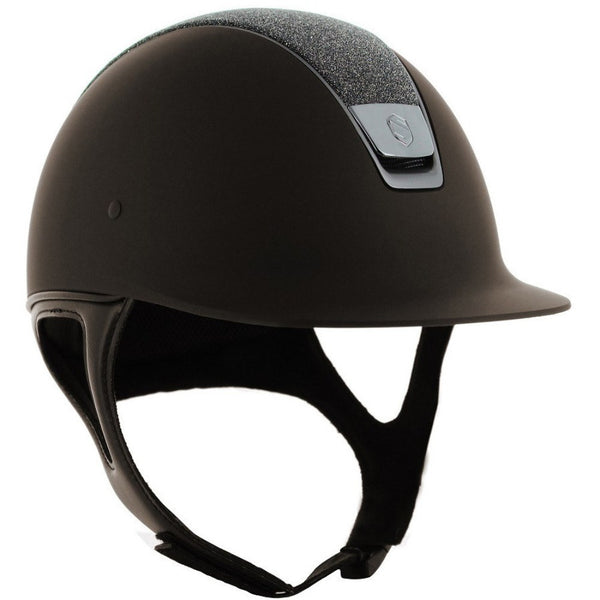 Samshield Shadow Matt CRYSTAL FABRIC SWAROVSKI Helmet - Brown - Equestrian Chic Boutique