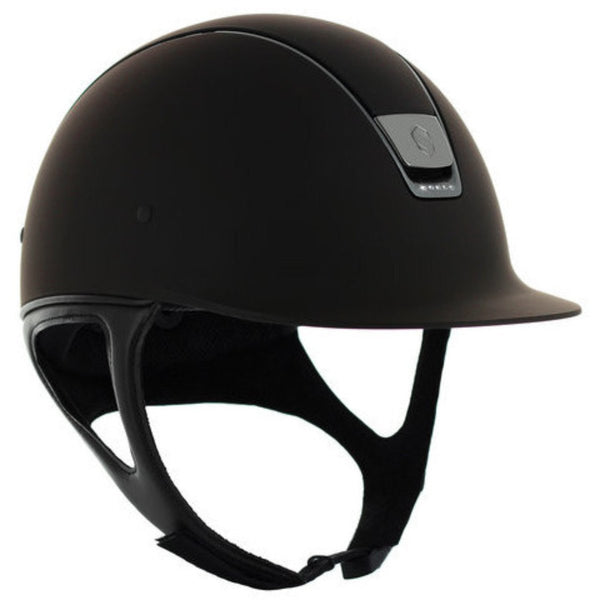 Samshield Shadow Matt 5 SWAROVSKI CRYSTAL Helmet - Brown - Equestrian Chic Boutique