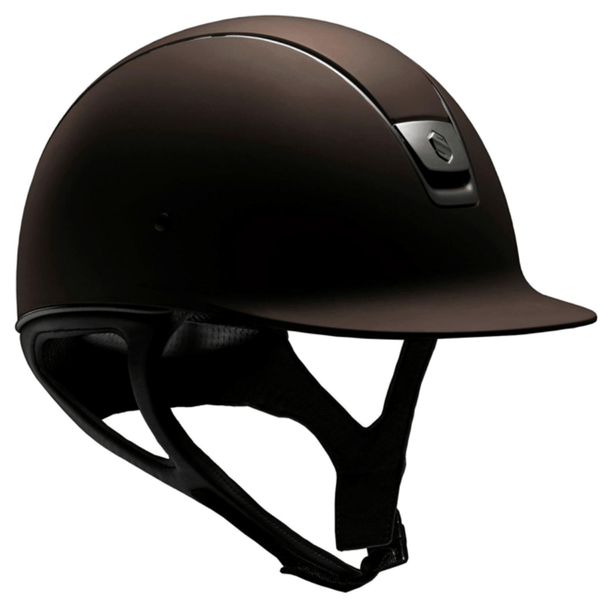 Samshield SHADOW MATTE Helmet - Brown - Equestrian Chic Boutique