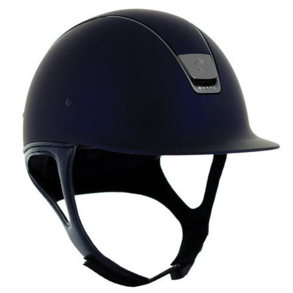 Samshield Shadow Matt 5 SWAROVSKI CRYSTAL Helmet - Navy - Equestrian Chic Boutique