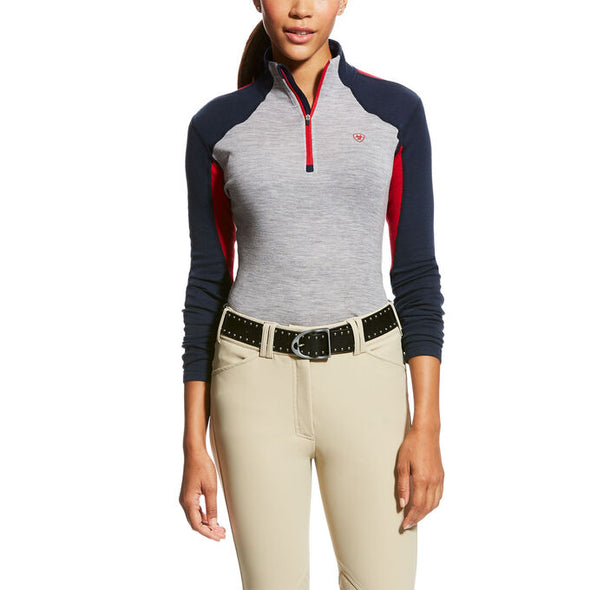 Ariat Cadence Wool 1/4 Zip Baselayer - Team - Equestrian Chic Boutique