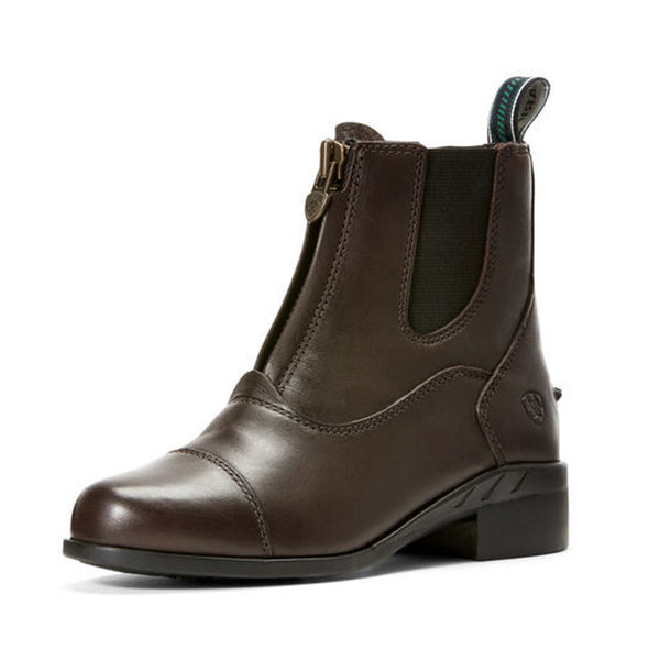 Ariat Devon IV Zip Kid's Paddock Boot - Brown - Equestrian Chic Boutique