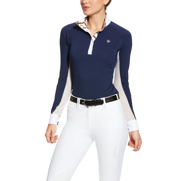 Ariat Marquis Show Shirt - Navy - Equestrian Chic Boutique