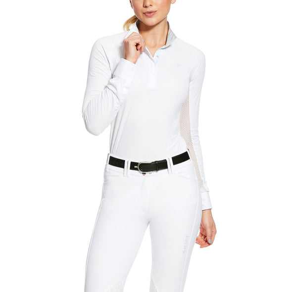 Ariat Marquis Show Shirt - White - Equestrian Chic Boutique